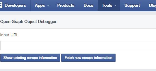 サイトがFacebookでシェアされた時の見た目を確認できる Facebook Object Debugger