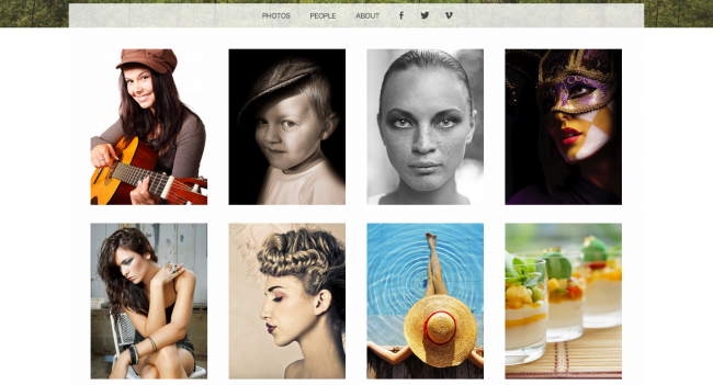 Snaps A free WordPress photo portfolio theme