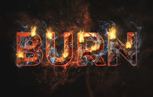 Flaming Rusty Text Effect - 600