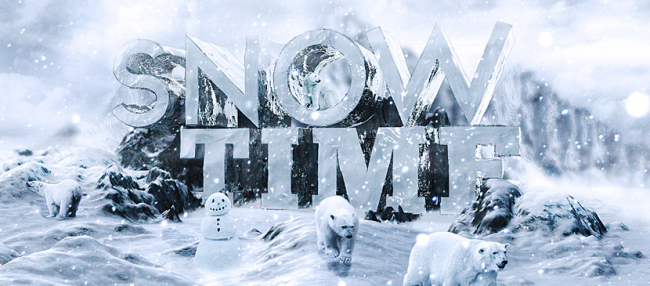 Making-3D-Snowing-Effect-for-Text-in-Photoshop-L