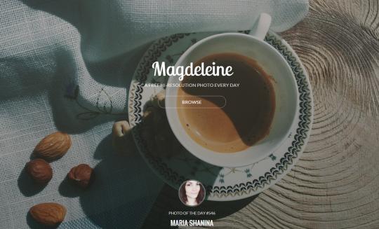 フリーの写真素材を集めたサイト Magdeleine