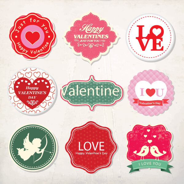 9-Free-Valentine's-Day-Vector-Badges