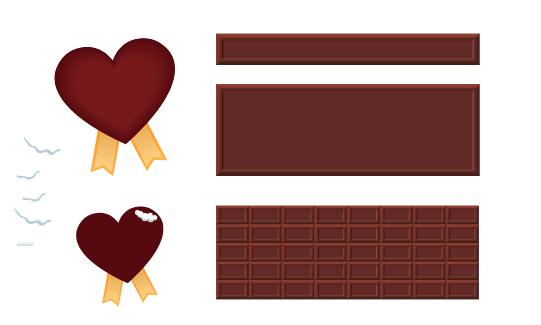板チョコのイラスト素材