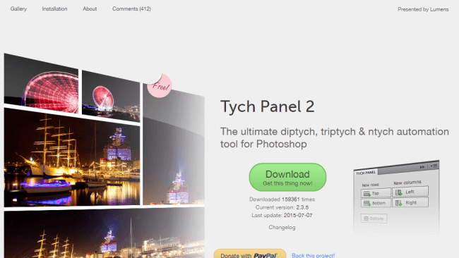 Tych Panel – The ultimate diptych triptych ntych automation tool for Photoshop by Reimund Trost