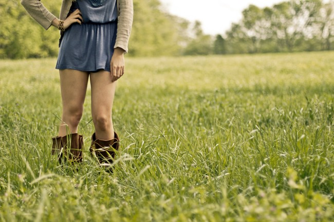 public-domain-images-free-stock-photos-girl-boots-standing-green-grass-field