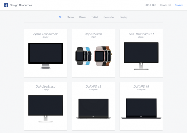Devices - Images and Sketch files of popular devices