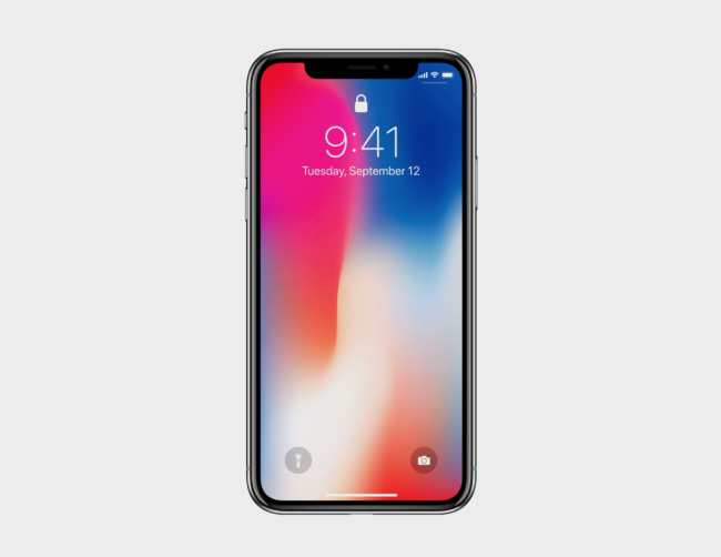 iPhone Xのフロントサイドモックアップ