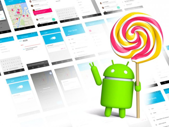 Android Lollipop UI Kit Sketch Resource