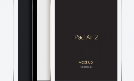 iPadの無料モックアップ素材46個まとめ(psd,ai,sketch)