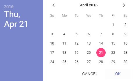 JavaScriptで日付選択