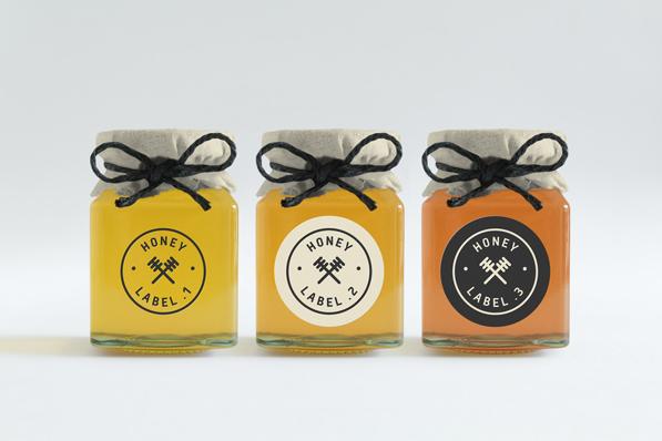 ハチミツ瓶のモックアップ