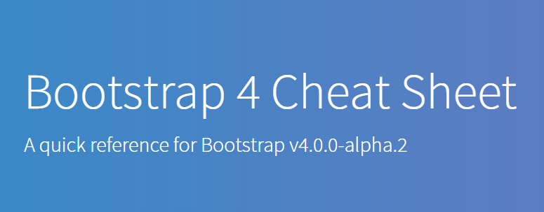 bootstrap チート シート