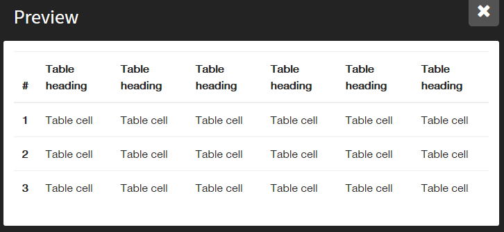 レスポンシブ対応のテーブル
