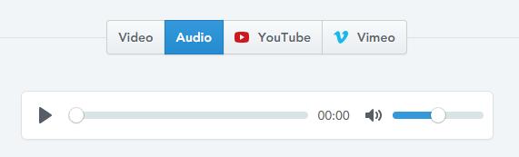 videoタグ(mp4、webp)、audioタグ(mp4、ogg)、Youtube、Vimeo対応