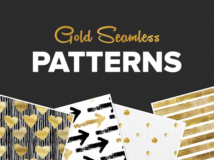 Seamless Gold Pattern Set