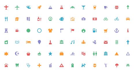 地図用のアイコンをダウンロードできるサービス『Maki Icons』