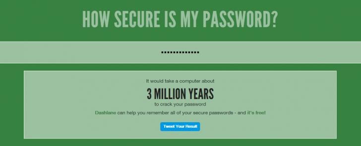 あなたのパスワードは大丈夫?パスワードの解読にどれくらいの時間がかかるか判定