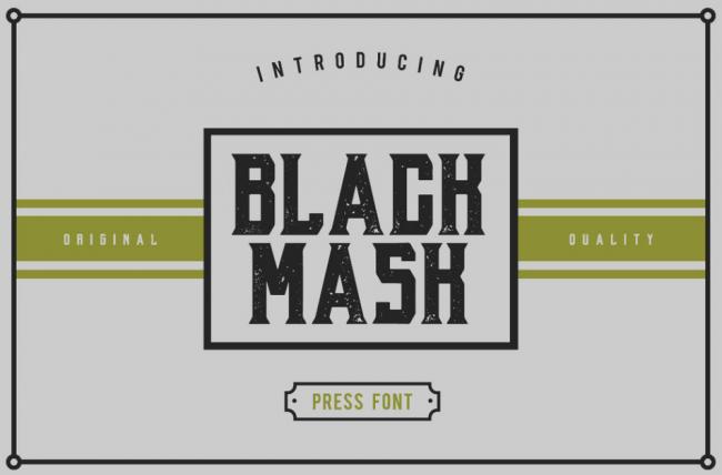 Black Mask Typeface