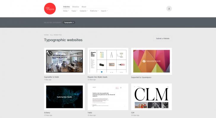 Typographic websites — siteInspire