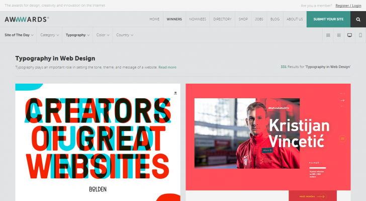 Best Examples of Typography in Web Design | Inspiration
