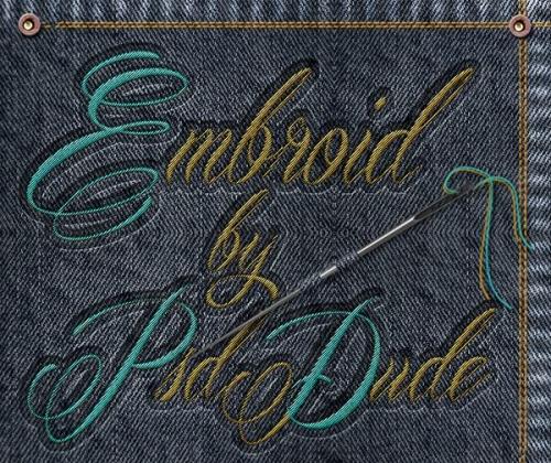 刺繍文字のテキストエフェクト