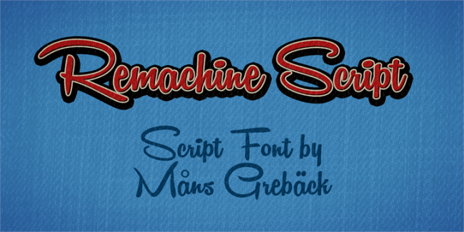 Remachine Script Personal Use font