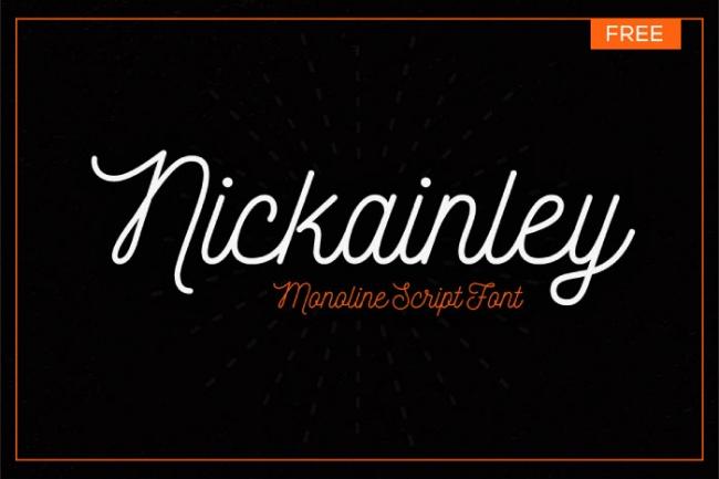 Nickainley free font