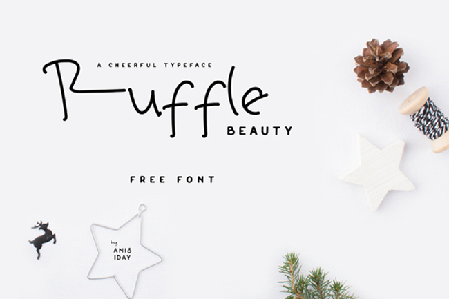 Font of the day: Ruffle Beauty