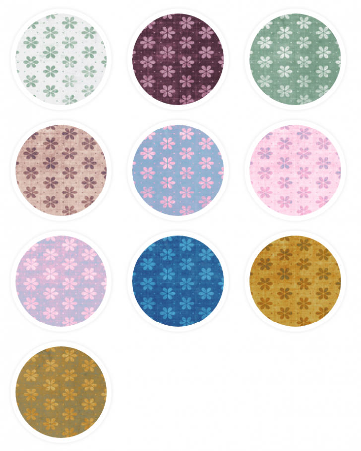 Tileable Grungy Flowers Photoshop Patterns & Seamless Textures