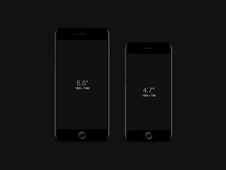 iPhone 7 モックアップ ジェットブラック