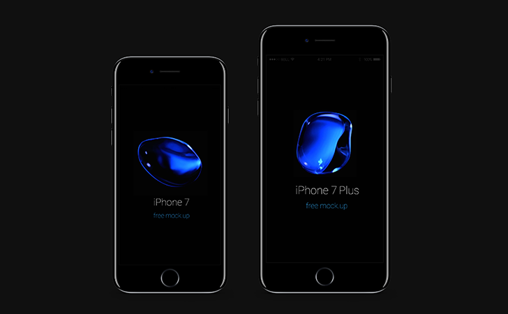 iPhone 7 Psd Jet Black Mockup