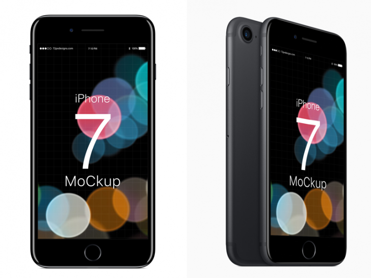 Free PSD: iPhone 7 Mockup