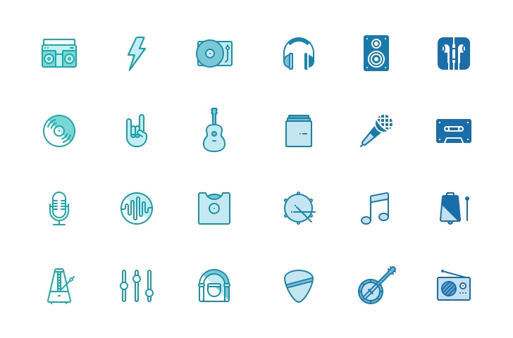 Musicons – Free PSD music icons