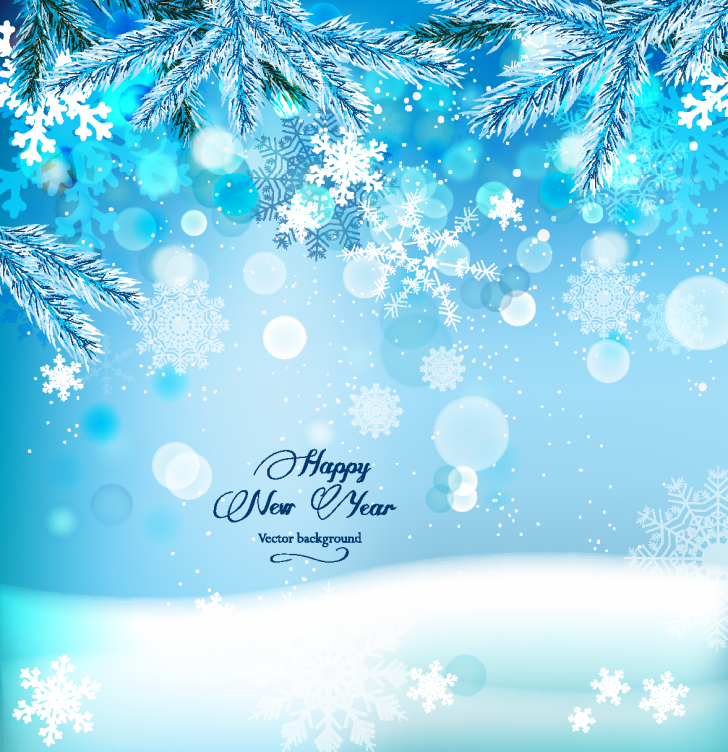 Beautiful snowflake vector background