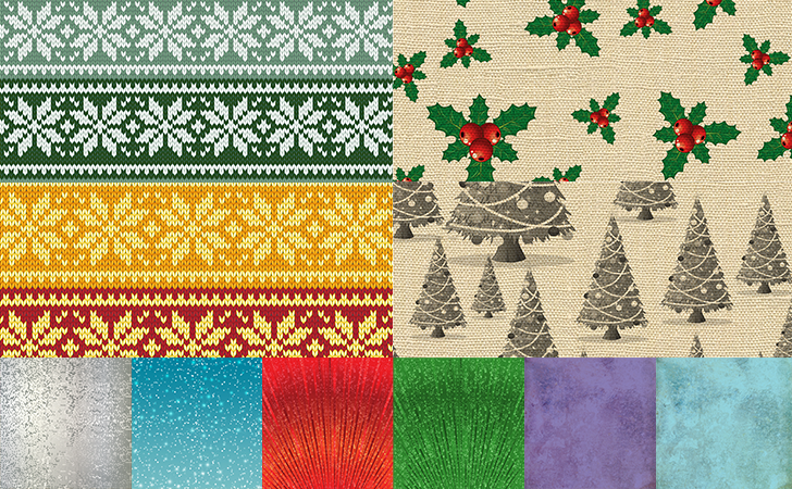 GIGA Christmas Patterns Freebie