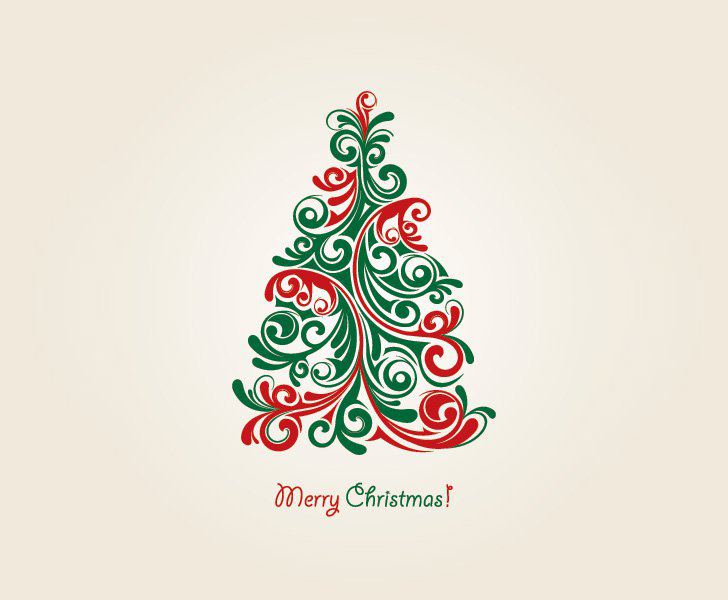 Christmas Tree Vector Vector Graphic