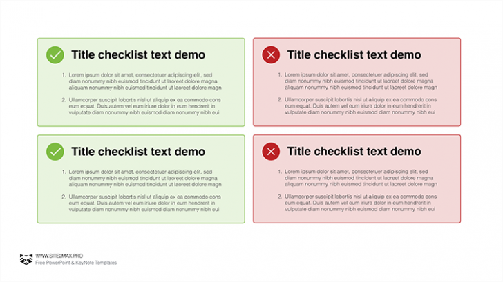 チャックリストの「Checklist free Keynote template」