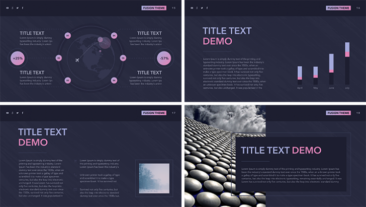 "「Free Keynote template ""Fusion""」"