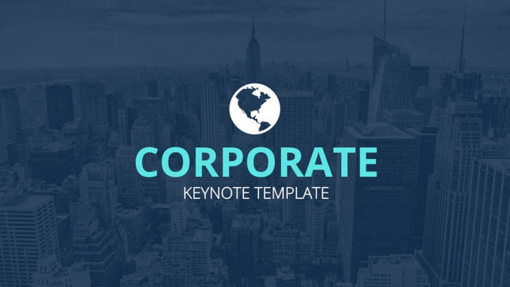 シンプルでパラフルな「Free Corporate Creative Keynote Template」