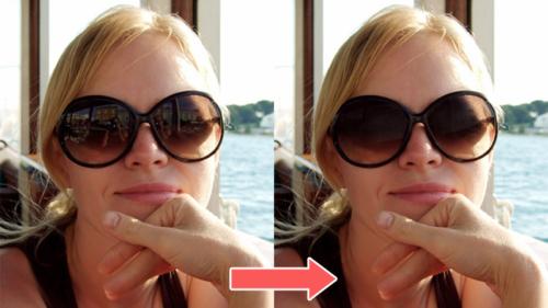 フォトショで色つきサングラスの写り込みを消す方法〜目が写っていないとき編〜