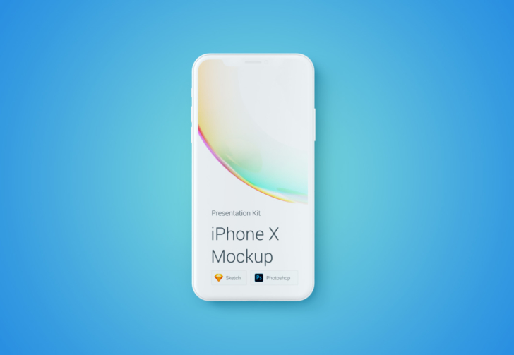 iPhone X Mockup Changeable Color(PSD/無料)