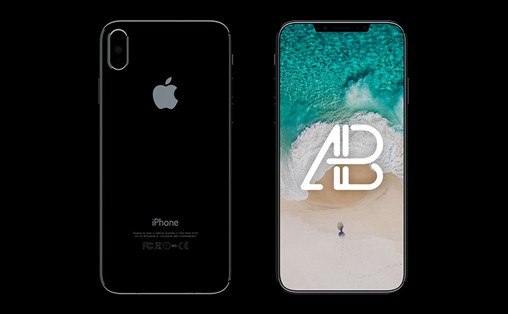 iPhone X Front & Back View Mockup