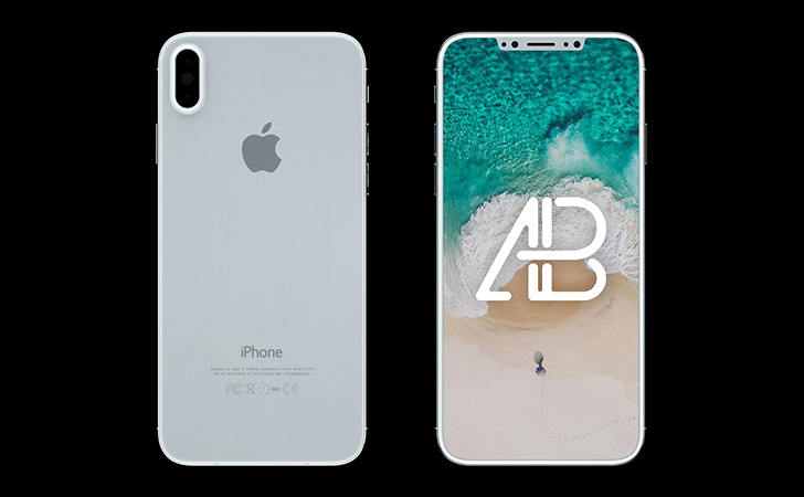 iPhone 8 Front & Back View Mockup