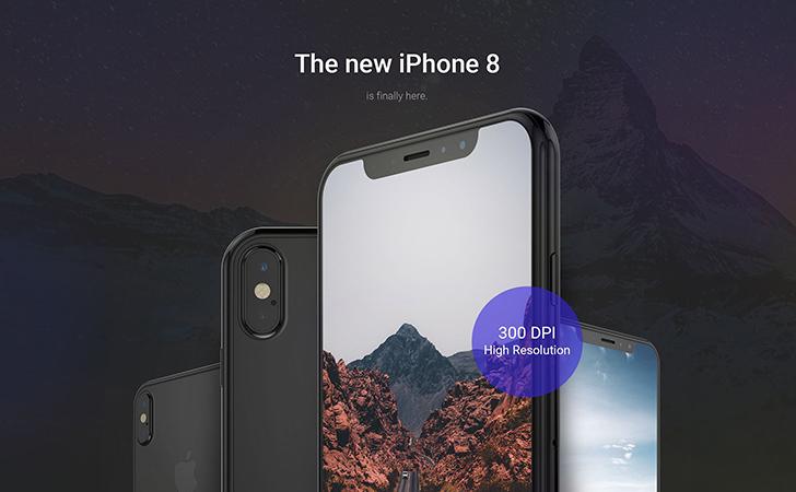 iPhone8 Mockup Complete Pack Black