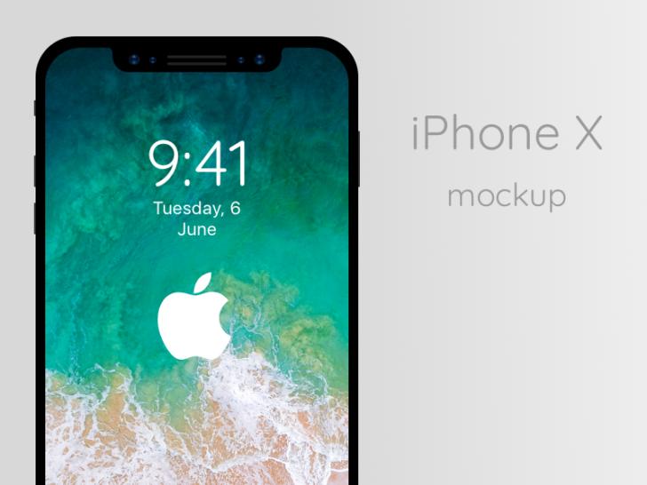 iPhone X mockup(Sketch/無料)